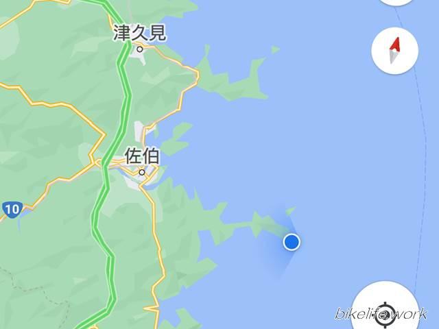 鶴御崎の広域地図